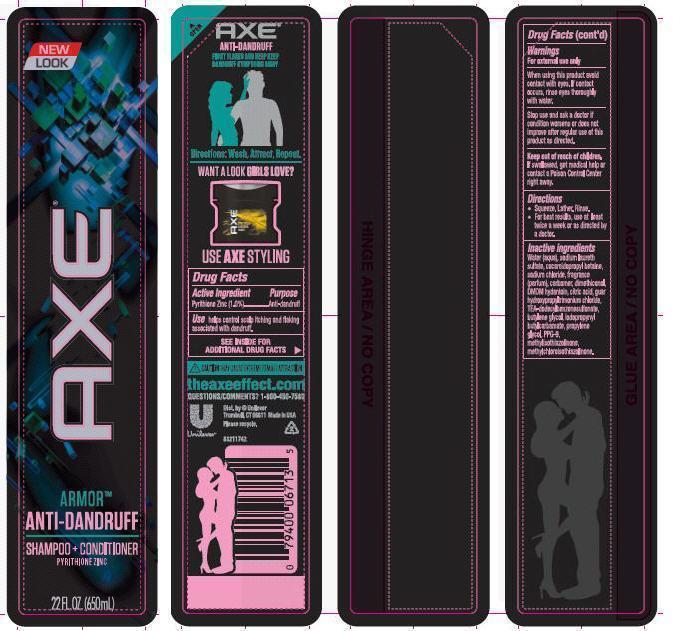 Axe 2 In 1 Armor Antidandruff 2 In 1 (Pyrithione Zinc) Shampoo [Conopco Inc. D/b/a Unilever]