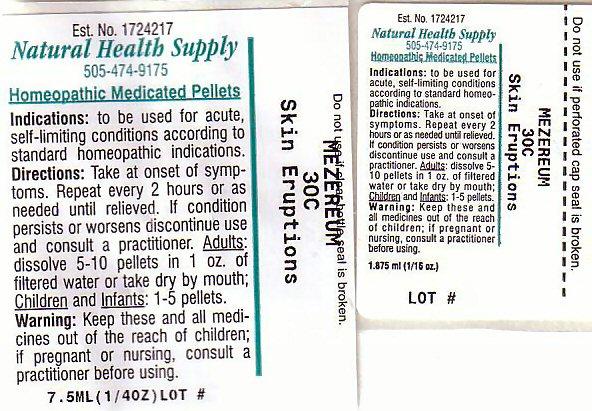 Skin Eruptions (Daphne Mezereum Bark) Pellet [Natural Health Supply]