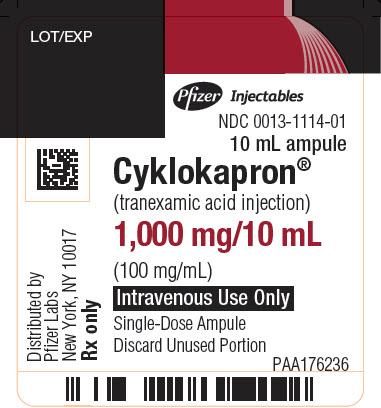 Cyklokapron (Tranexamic Acid) Injection, Solution [Pharmacia And Upjohn Company]