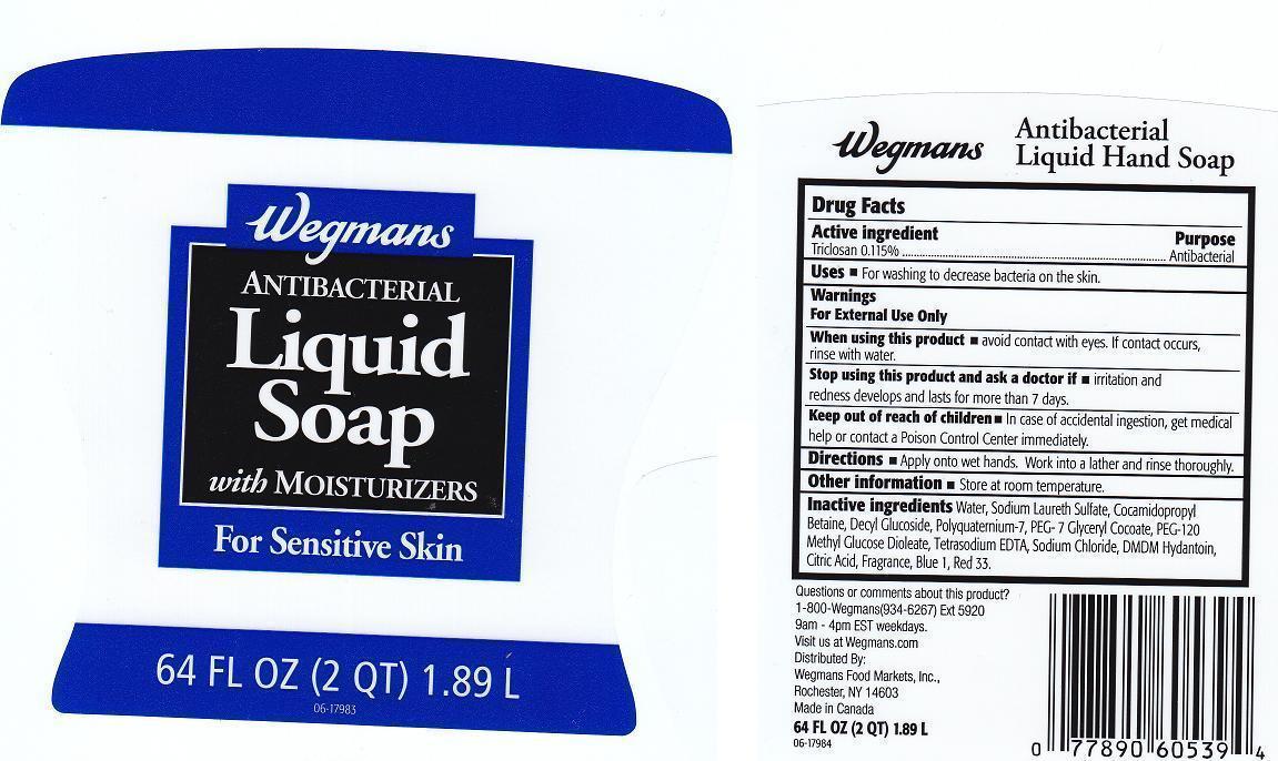 Wegmans Antibacterial With Moisturizers (Triclosan) Liquid [Wegmans Food Markets Inc.]