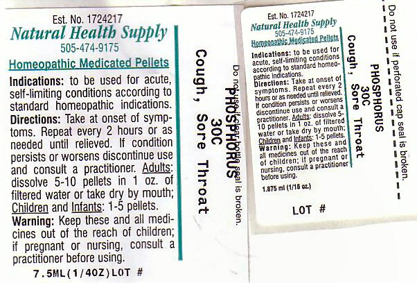 Cough Sore Throat (Phosphorus) Pellet [Natural Health Supply]