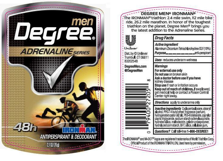 Degree Ironman Antiperspirant And Deodorant (Aluminum Zirconium Tetrachlorohydrex Gly) Stick [Conopco Inc. D/b/a Unilever]
