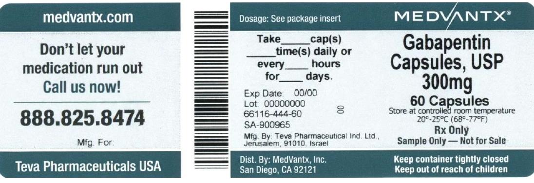 Gabapentin Capsule [Medvantx Inc.]
