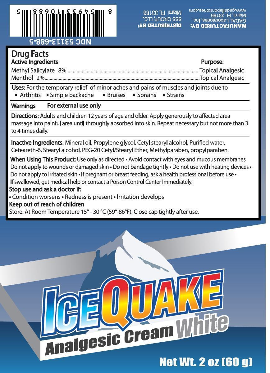 Ice Quake White (Methyl Salicylate, Menthol) Cream [Gadal Laboratories Inc]