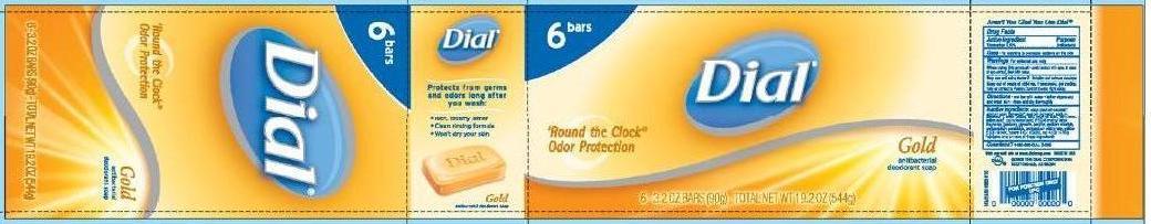 Dial Gold Bar Antibacterial Deodorant Soap (Triclocarban) Soap [Vvf Kansas Services Llc]