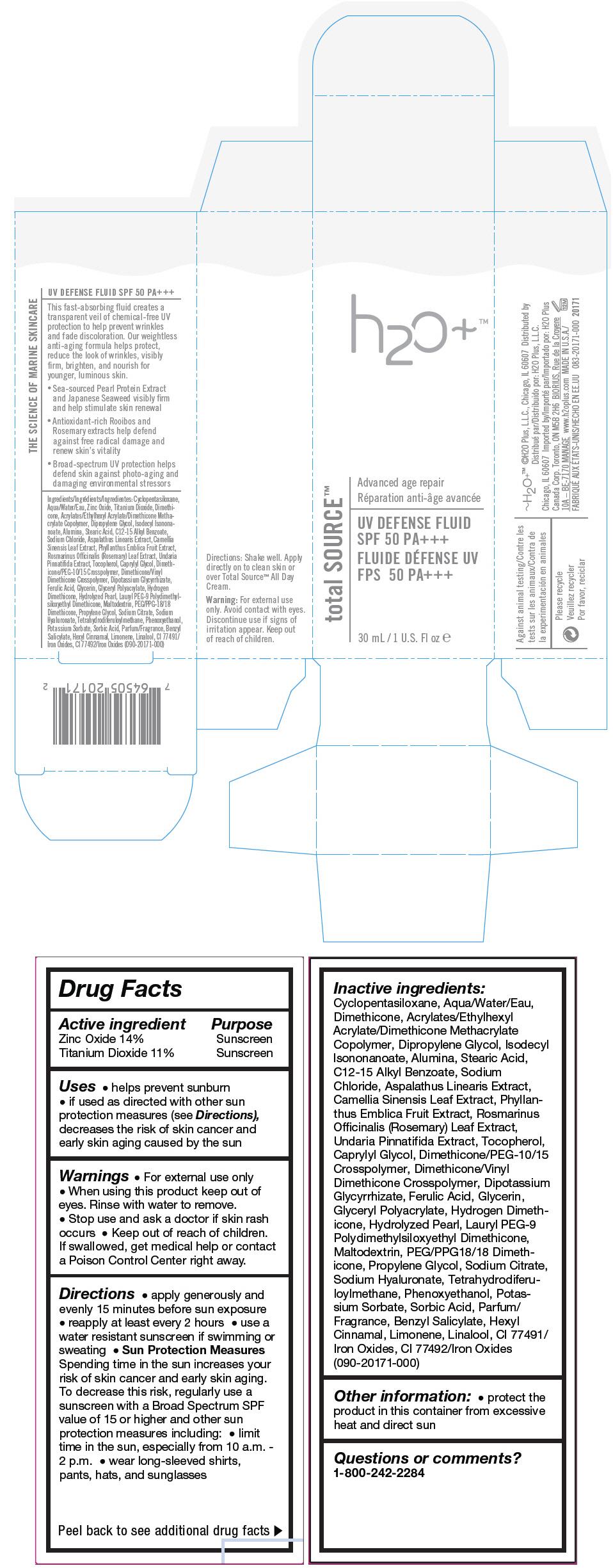 Uv Defense Fluid (Titanium Dioxide And Zinc Oxide) Cream [H2o Plus]