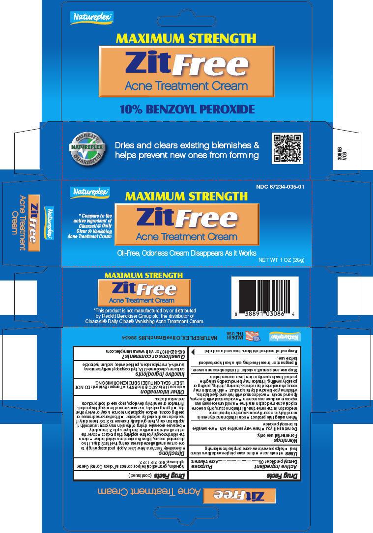 Zitfree Acne Treatment (Benzoyl Peroxide) Ointment [Natureplex Llc]