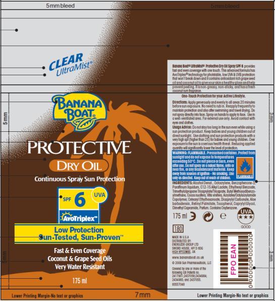 PRINCIPAL DISPLAY PANEL Banana Boat Protective Dry Oil SPF 6