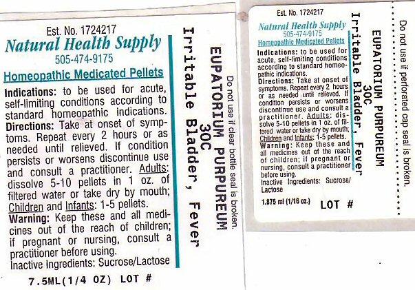 Irritable Bladder Fever (Eutrochium Purpureum Root) Pellet [Natural Health Supply]