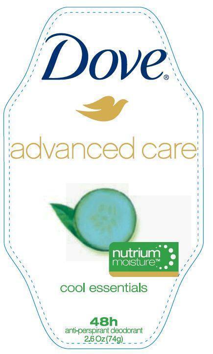 Dove Advanced Care Cool Essentials Antiperspirant And Deodorant (Aluminum Zirconium Tetrachlorohydrex Gly) Stick [Conopco Inc. D/b/a Unilever]