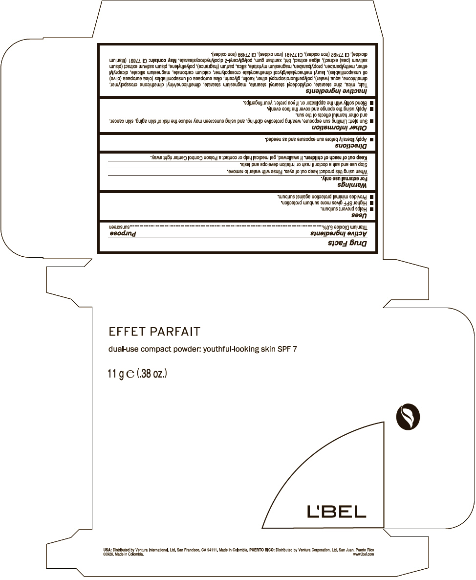 Lbel Effet Parfait Dual-use Compact Youthful Looking Skin Spf7 (Titanium Dioxide) Powder [Ventura Corporation Ltd.]