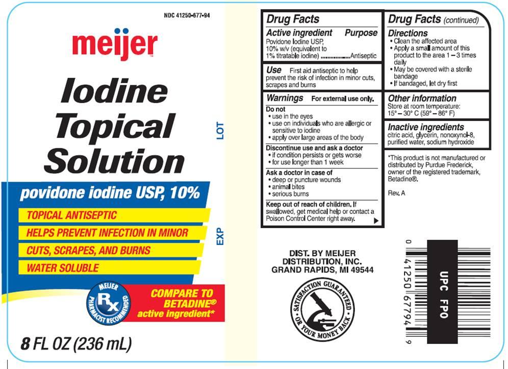 Iodine Topical Solution (Povidone-iodine) Solution [Meijer Distribution Inc]