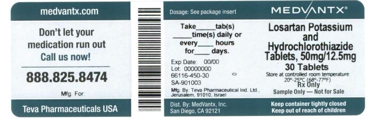 Losartan Potassium And Hydrochlorothiazide Tablet, Film Coated [Medvantx, Inc.]