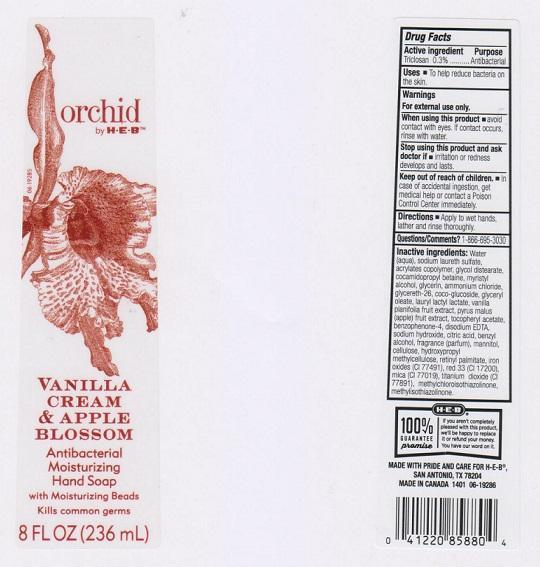 Orchid By H E B Antibacterial Moisturizing Vanilla And Apple Blossom (Triclosan) Liquid [H E B]