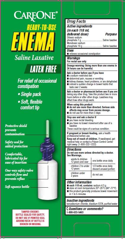 Care One Saline Enema Drug Facts