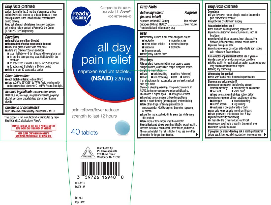 All Day Pain Relief (Naproxen Sodium) Tablet [P And L Development Of New York Corporation (Readyincase)]