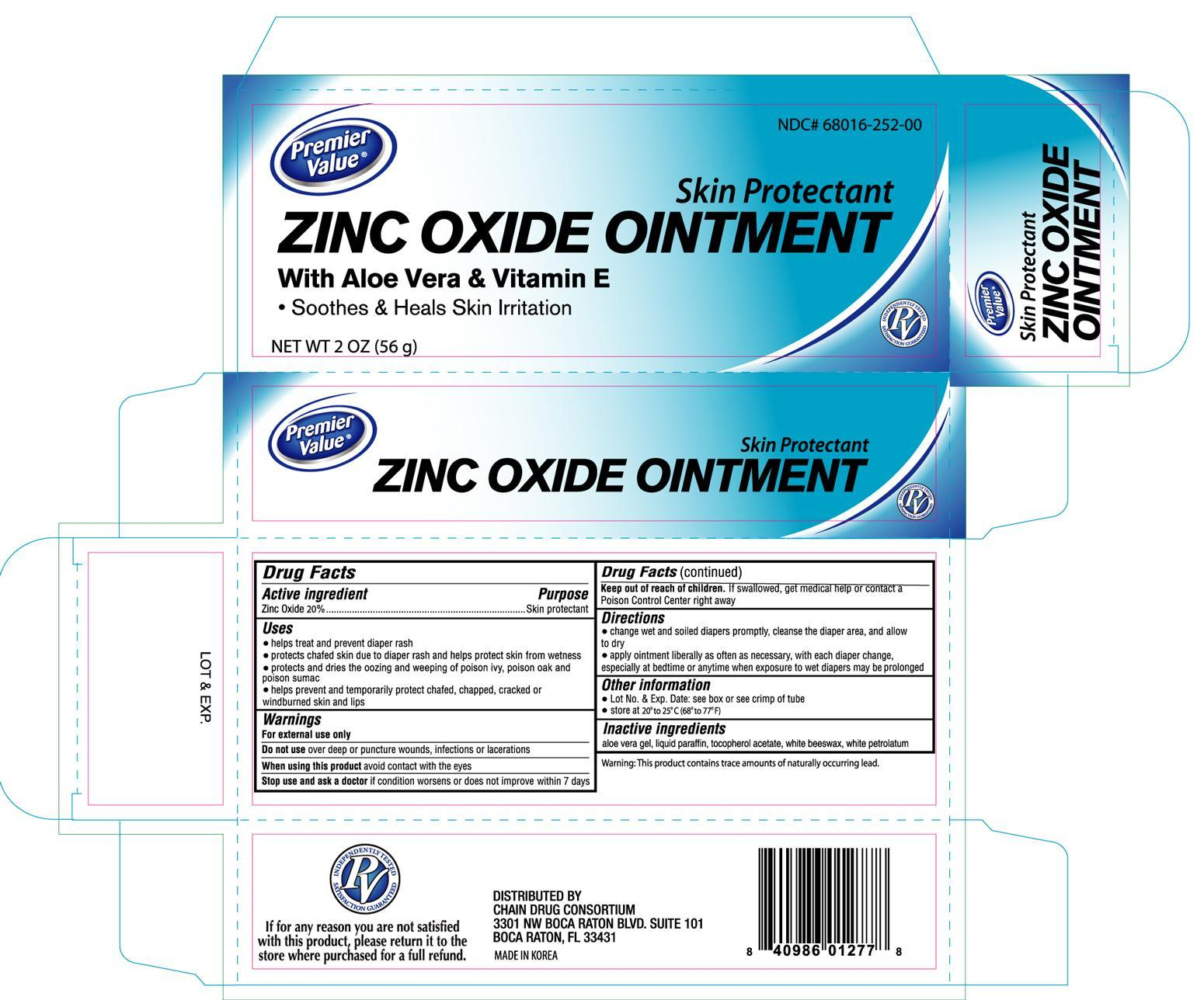 Premier Value Zinc Oxide (Zinc Oxide) Cream [Chain Drug Consortium, Llc]