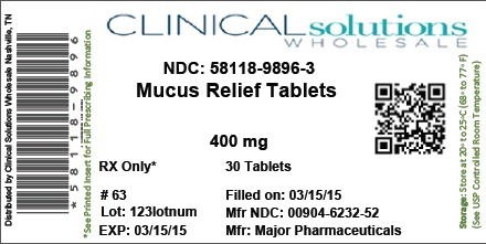Mucus Relief (Guaifenesin) Tablet [Clinical Solutions Wholesale]