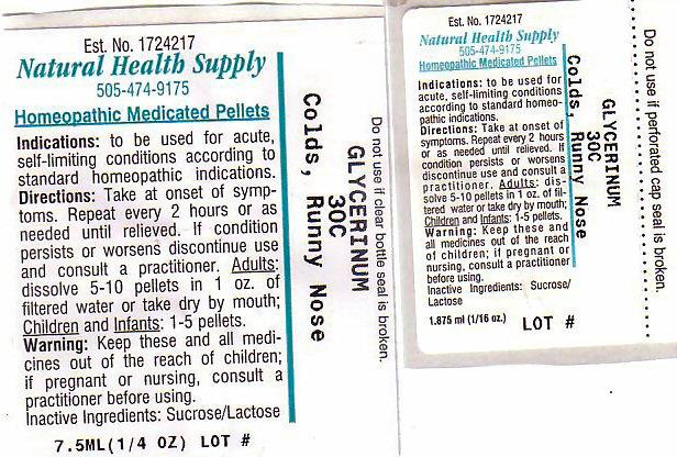 Colds Runny Nose (Glycerin) Pellet [Natural Health Supply]