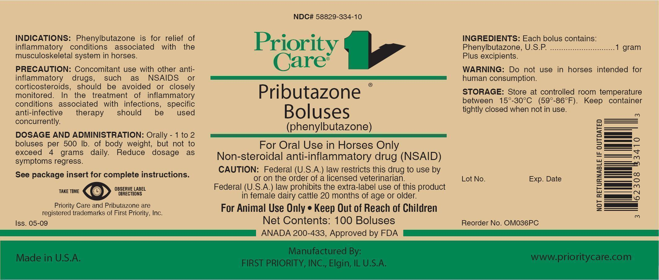 Pributazone (Phenylbutazone) Tablet [First Priority Incorporated]
