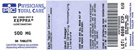 PRINCIPAL DISPLAY PANEL - 500 mg Tablet Bottle