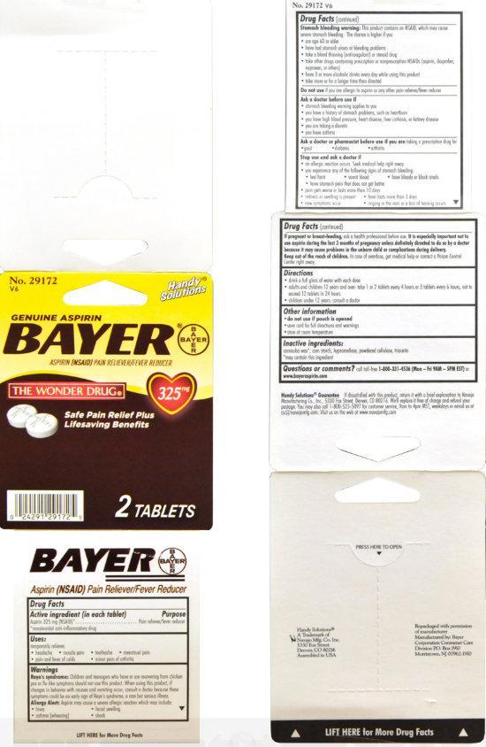 Handy Solutions Genuine Aspirin Bayer (Aspirin) Tablet [Navajo Manufacturing Company Inc.]