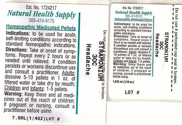 Headache (Datura Stramonium) Pellet [Natural Health Supply]