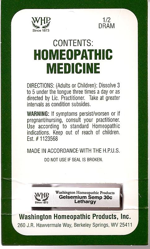 Gelsemium Semp Kit Refill (Gelsemium Sempervirens Root) Pellet [Washington Homeopathic Products]