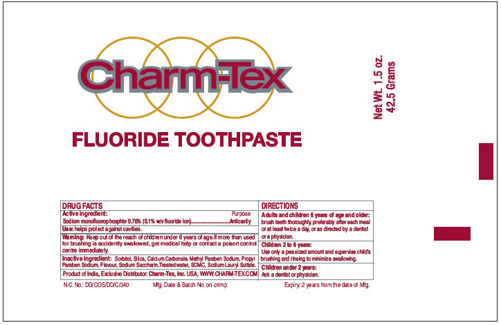Charm Tex (Sodium Monofluorophosphate) Paste, Dentifrice [Charm Tex, Inc.]