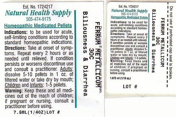 Biliousness Diarrhea (Iron) Pellet [Natural Health Supply]