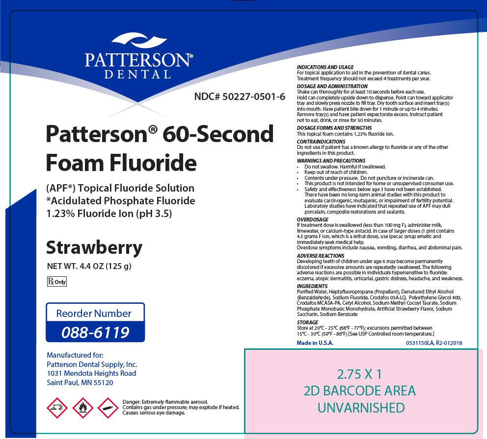 Topical 60 Sec Sodium Fluoride Strawberry (Sodium Fluoride) Aerosol, Foam [Patterson Dental Supply Inc]