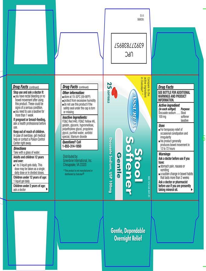 Stool Softener (Docusate Sodium) Capsule, Liquid Filled [Velocity Pharma]