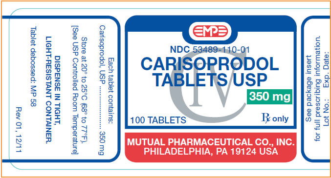 Carisoprodol Tablet [Mutual Pharmaceutical Company, Inc.]