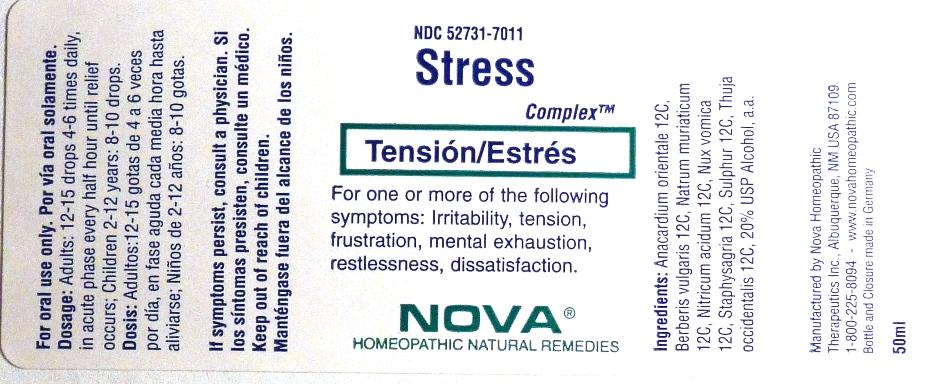 Stress Complex (Anacardium Orientale, Berberis Vulgaris, Natrum Muriaticum, Nitricum Acidum, Nux Vomica, Staphysagria, Sulphur, Thuja Occidentalis) Liquid [Nova Homeopathic Therapeutics, Inc.]