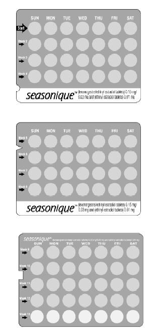 3 trays of Seasonique