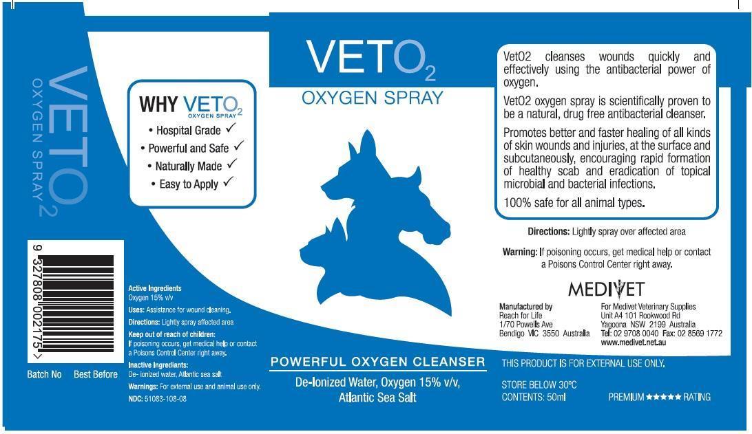 Vet O2 (Oxygen) Spray [Medivet Pty Ltd]