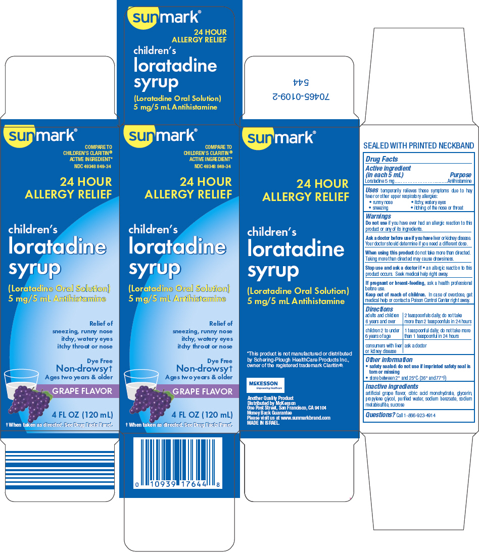 Sunmark Childrens Loratadine (Loratadine) Solution [Mckesson]
