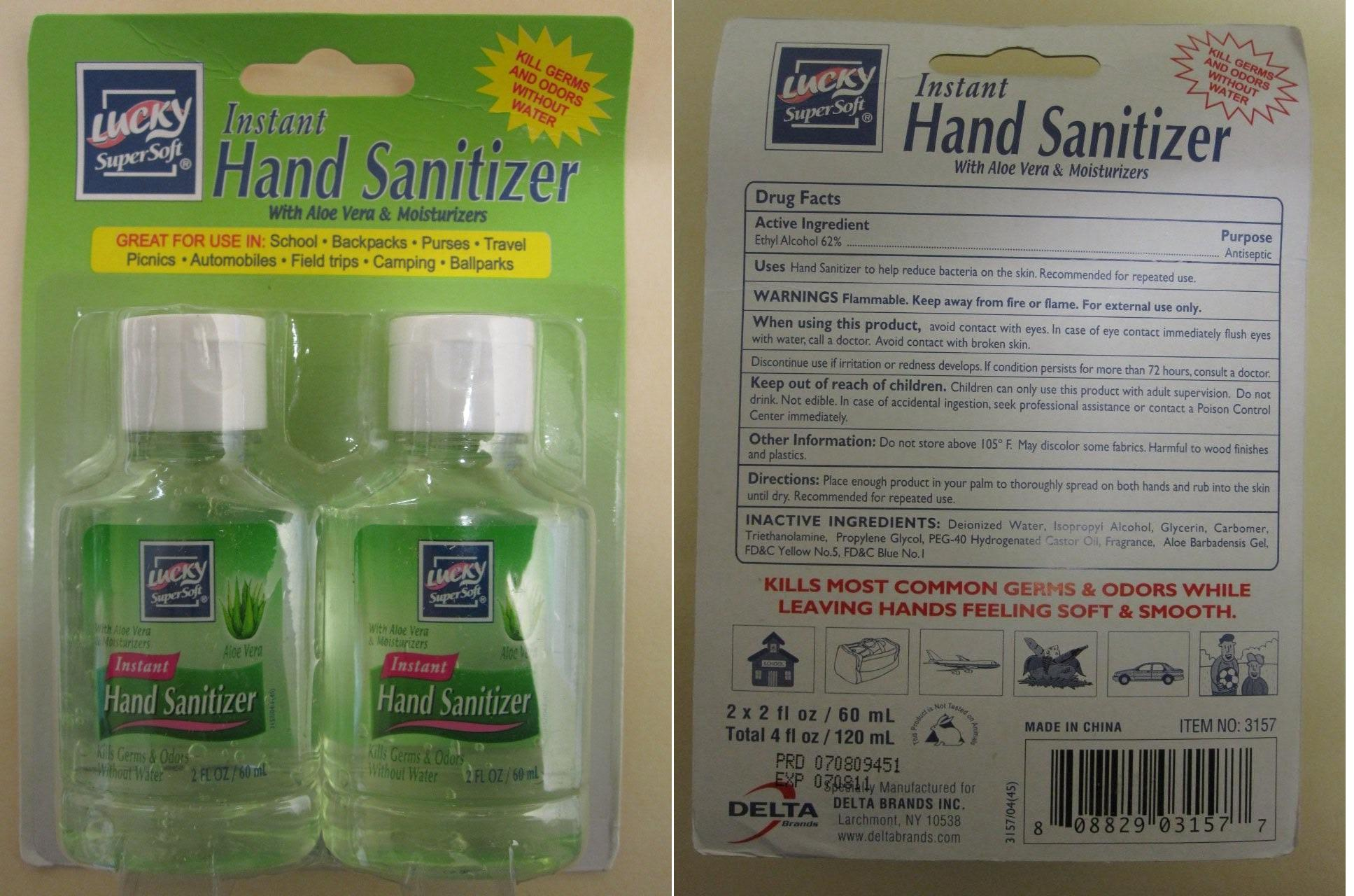 Lucky Instant Hand Cleanser With Aloe Vera (Ethyl Alcohol) Liquid [Delta Brands Inc]