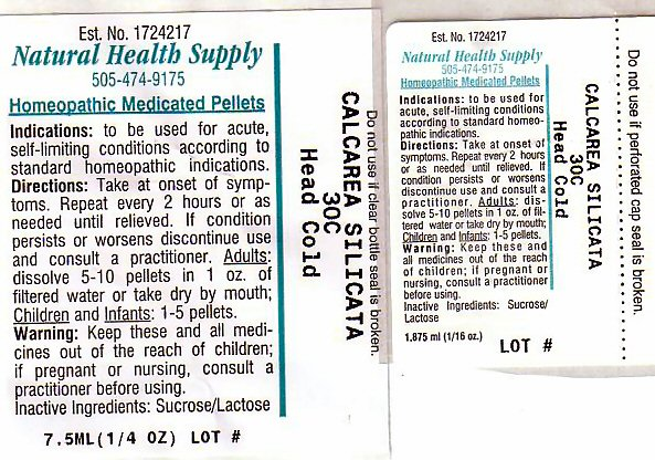 Head Cold (Calcium Silicate) Pellet [Natural Health Supply]