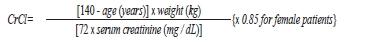 Cockcroft-Gault formula
