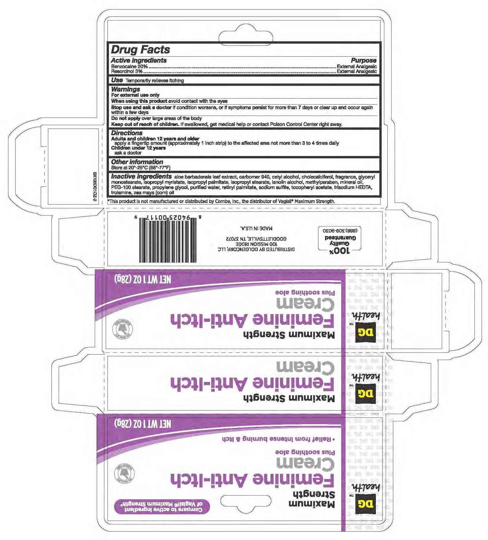 Benzocaine And Resorcinol Cream [Dolgencorp, Inc]