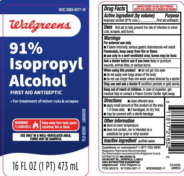Isopropyl Alcohol 91 Percent (Isopropyl Alcohol) Liquid [Walgreens]