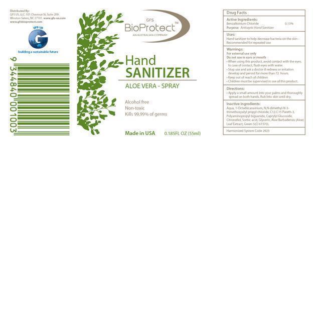 Gfs Bioprotect Hand Sanitizer Aloe Vera – (Benzalkonium Chloride ) Spray [Gfs Us Llc]
