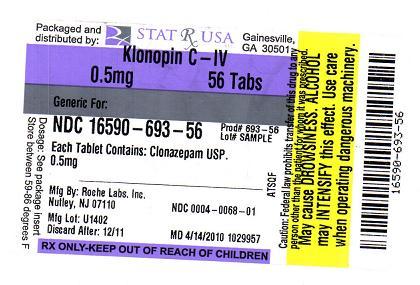 KLONOPIN 0-5MG LABEL IMAGE