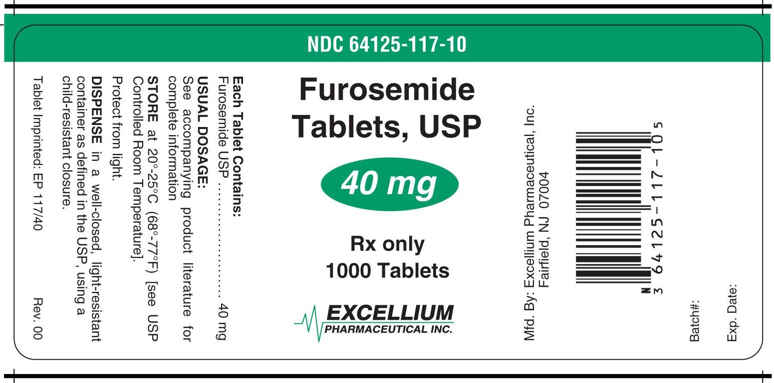 furosemide 40mg 1000tabs