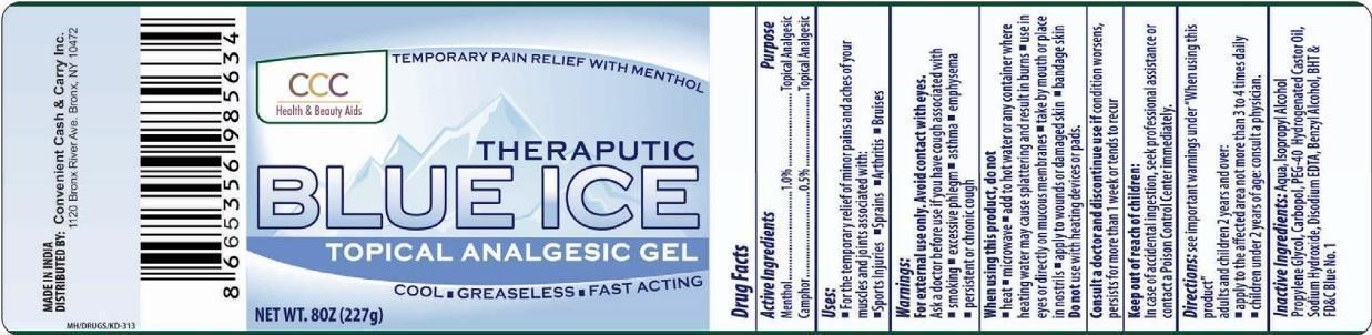 Blue Ice Topical Analgesic (Menthol And Camphor) Gel [Convenient Cash And Carry Inc]