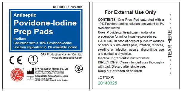 Povidone-iodine Prep (Povidone-iodine) Swab [Genuine First Aid, Llc]
