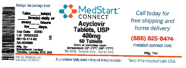 Acyclovir Tablets USP 400mg #60