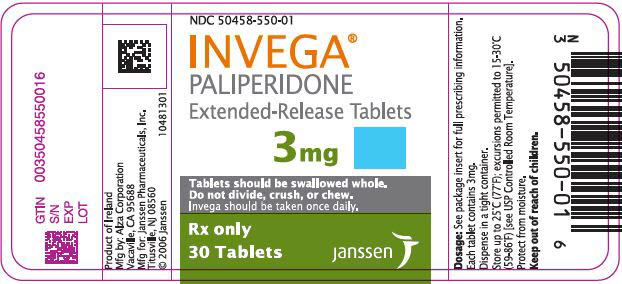 Invega (Paliperidone) Tablet, Extended Release [Janssen Pharmaceuticals, Inc.]