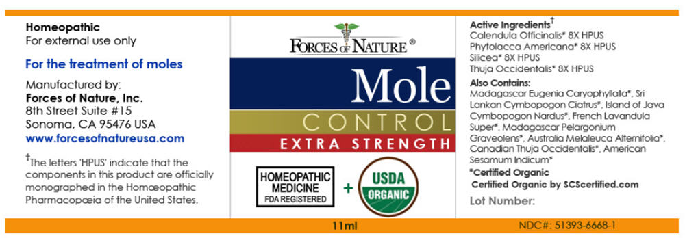 Nevi (Mole) Control (Calendula Officinalis Flowering Top, Phytolacca Americana Root, Silicon Dioxide, And Thuja Occidentalis Leafy Twig) Solution/ Drops [Forces Of Nature]